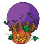 Pumpkin Haloween. Lustrator design .eps 10 Royalty Free Stock Image