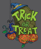 Pumpkin Haloween trick or treat. Illustrator design .eps 10 Stock Image
