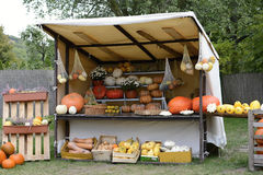 Pumpkin Harvest in a Booth in a Garden, Czech Republic, Europe Royalty Free Stock Photo