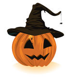 Pumpkin in the hat Stock Photography