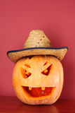 Pumpkin in hat Royalty Free Stock Images