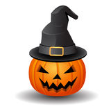 Pumpkin and hat Stock Image
