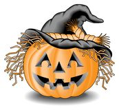 Pumpkin with Hat Royalty Free Stock Photo