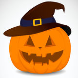 Pumpkin with hat Royalty Free Stock Images