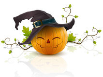 Pumpkin with a hat Royalty Free Stock Images