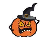 Halloween pumpkin with hat Royalty Free Stock Photos