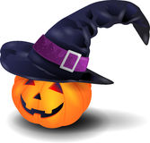 Pumpkin with hat Royalty Free Stock Photos