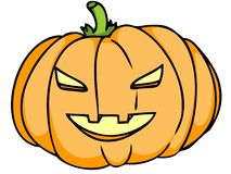 Pumpkin head Royalty Free Stock Photo