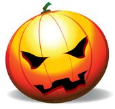 Pumpkin head. Vector illustration of a halloween pumpkin stock illustration