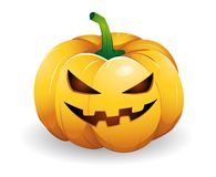 Pumpkin head Royalty Free Stock Image