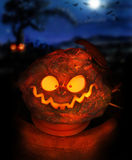 Pumpkin head Stock Photo