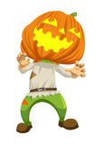 Pumpkin Head Royalty Free Stock Photography