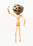 Pumpkin head doll Stock Images