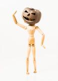 Pumpkin head doll Stock Images