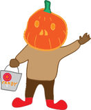 Pumpkin head Royalty Free Stock Images