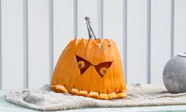 Pumpkin  head, halloween Royalty Free Stock Image