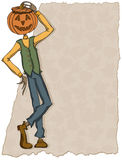 Pumpkin Head Jones. Vector art in Illustrator 8. Outline, color, background on separate layers Royalty Free Stock Images