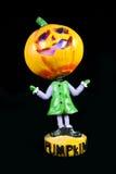 Pumpkin Head-1. Macro shot of a Halloween figure Stock Photos