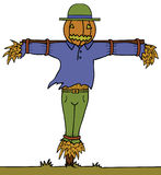 Pumpkin Head Scarecrow Royalty Free Stock Photography