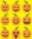 Pumpkin head set Stock Images