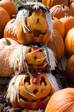 Pumpkin Head Totem Pole Stock Photos