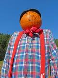 Pumpkin Headed Scarecrow stock photography