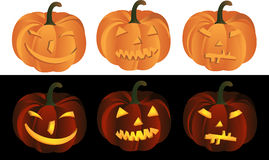 Pumpkin heads Stock Photos