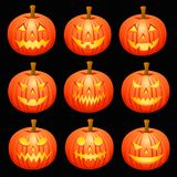 Pumpkin Heads. A Set of Pumpkin Heads. EPS 10 file and large jpg included royalty free illustration