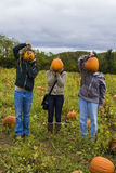 Pumpkin Heads Royalty Free Stock Photography