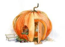 Pumpkin house Royalty Free Stock Image