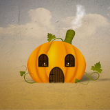 Pumpkin house Stock Images