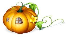 Pumpkin house Stock Images