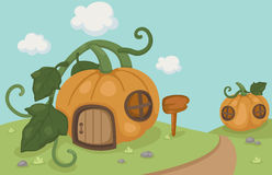 A pumpkin house Stock Images