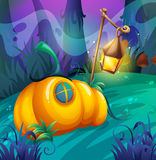 Pumpkin house in the jungle Royalty Free Stock Photo