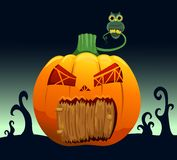 Pumpkin house Royalty Free Stock Photos