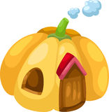 Pumpkin house vector Stock Image