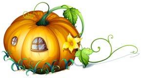 Pumpkin house with windows. Illustration Stock Image