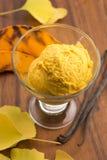 Pumpkin ice cream Stock Photo