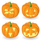Pumpkin icon set for Halloween Royalty Free Stock Photos