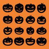 Pumpkin Icons Royalty Free Stock Photos