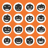 Pumpkin Icons Stock Images