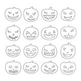 Pumpkin Icons Royalty Free Stock Image
