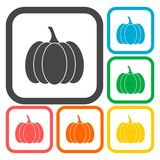Pumpkin icons set Stock Photos