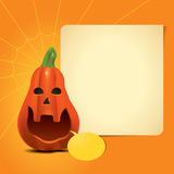 Pumpkin Invitation Card Royalty Free Stock Photos