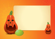 Pumpkin Invitation Long Stock Image