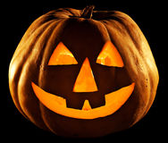 Pumpkin isolated on black background Royalty Free Stock Images