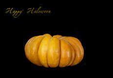 Pumpkin isolated on black. Big Single Pumpkin isolated on black background stock image