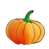 Pumpkin isolated. Cartoon style pumpkin isolated over white Royalty Free Stock Photo