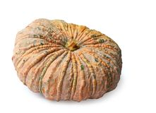 Pumpkin isolated with clipping path. Pumpkin isolated on white background, clipping path Stock Photo