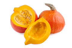 Pumpkin isolated on white Royalty Free Stock Photo